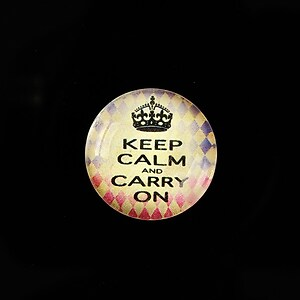 "Cabochon sticla 20mm ""Always Keep Calm"" cod 945"