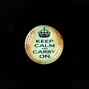"Cabochon sticla 20mm ""Always Keep Calm"" cod 946"