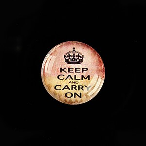 "Cabochon sticla 20mm ""Always Keep Calm"" cod 948"