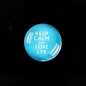 "Cabochon sticla 20mm ""Always Keep Calm"" cod 952"