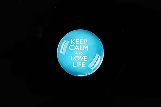 """Cabochon sticla 20mm """"Always Keep Calm"""" cod 952"""