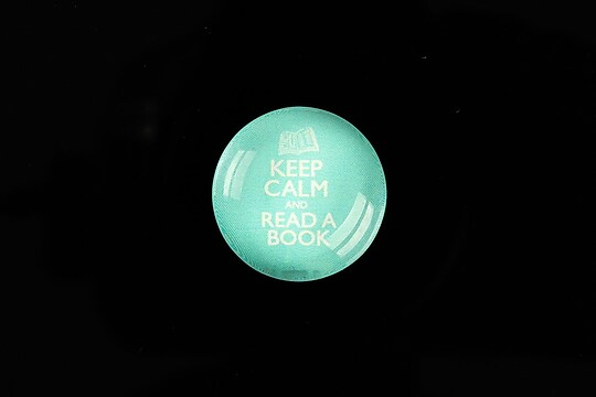"""Cabochon sticla 20mm """"Always Keep Calm"""" cod 954"""