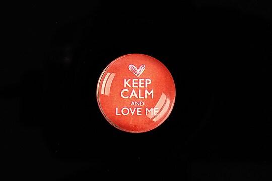"""Cabochon sticla 20mm """"Always Keep Calm"""" cod 955"""