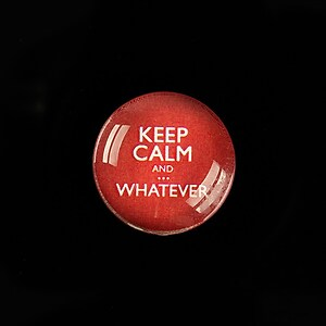 "Cabochon sticla 20mm ""Always Keep Calm"" cod 956"