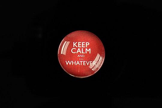 """Cabochon sticla 20mm """"Always Keep Calm"""" cod 956"""