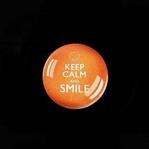 """Cabochon sticla 20mm """"Always Keep Calm"""" cod 957"""