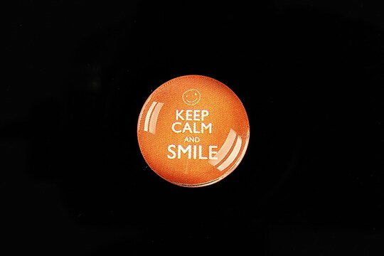 "Cabochon sticla 20mm ""Always Keep Calm"" cod 957"