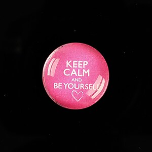 "Cabochon sticla 20mm ""Always Keep Calm"" cod 959"