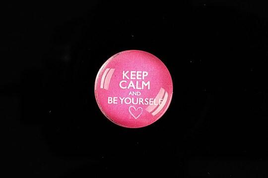 """Cabochon sticla 20mm """"Always Keep Calm"""" cod 959"""