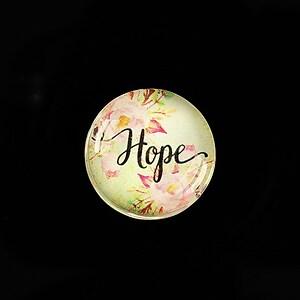 """Cabochon sticla 20mm """"Hope"""" cod 962"""