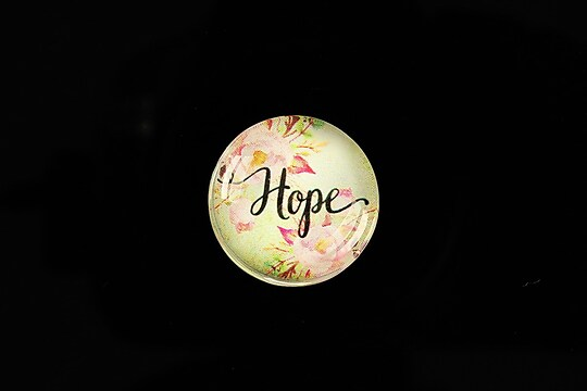 "Cabochon sticla 20mm ""Hope"" cod 962"