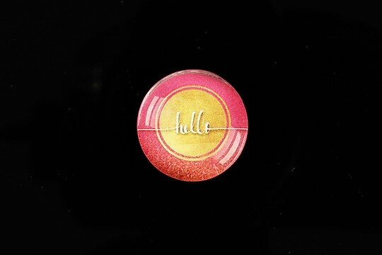 "Cabochon sticla 20mm ""hello"" cod 966"