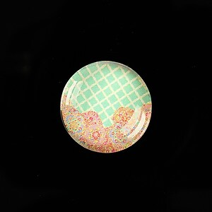 """Cabochon sticla 20mm """"Pattern"""" cod 974"""
