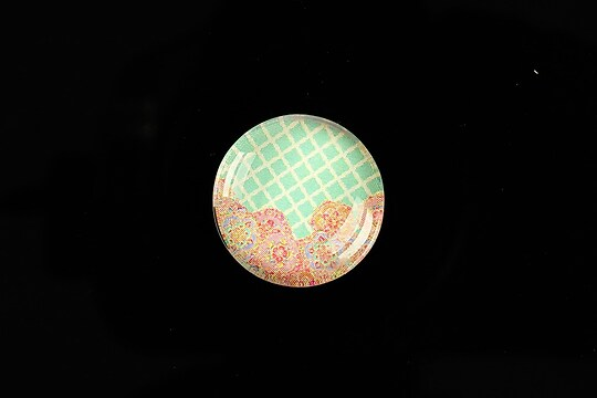 "Cabochon sticla 20mm ""Pattern"" cod 974"
