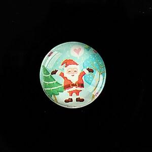 "Cabochon sticla 20mm ""Christmas"" cod 982"