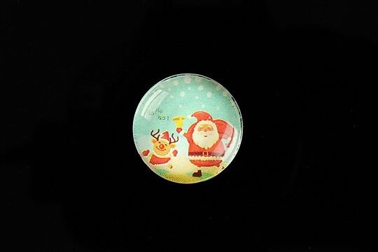 "Cabochon sticla 20mm ""Christmas"" cod 984"