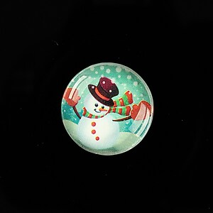"Cabochon sticla 20mm ""Christmas"" cod 985"