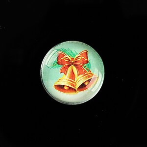 "Cabochon sticla 20mm ""Christmas"" cod 986"
