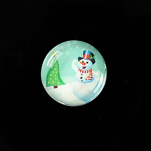 "Cabochon sticla 20mm ""Christmas"" cod 987"