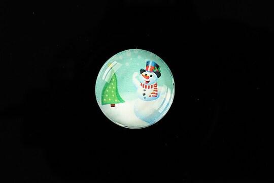 "Cabochon sticla 20mm ""Christmas"" cod 987"