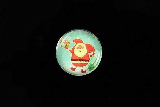 "Cabochon sticla 20mm ""Christmas"" cod 988"