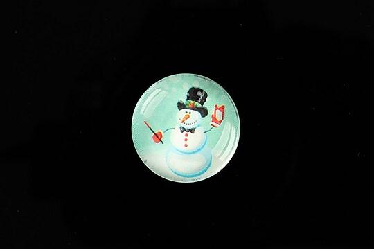 "Cabochon sticla 20mm ""Christmas"" cod 991"