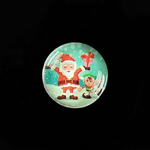 "Cabochon sticla 20mm ""Christmas"" cod 993"