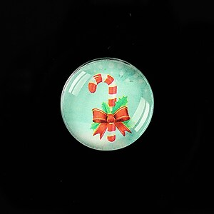 "Cabochon sticla 20mm ""Christmas"" cod 994"
