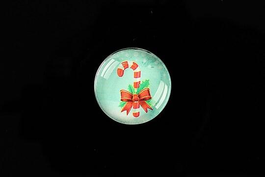 "Cabochon sticla 20mm ""Christmas"" cod 994"