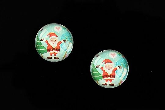 "Cabochon sticla 16mm ""Christmas"" cod 995"