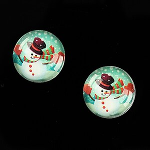 "Cabochon sticla 16mm ""Christmas"" cod 998"