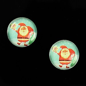 "Cabochon sticla 16mm ""Christmas"" cod 1001"