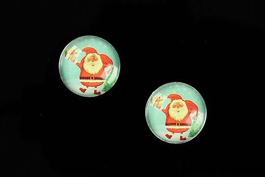 "Cabochon sticla 16mm ""Christmas"" cod 1001"