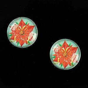 "Cabochon sticla 16mm ""Christmas"" cod 1002"