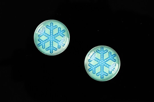 "Cabochon sticla 16mm ""Christmas"" cod 1003"