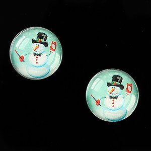 "Cabochon sticla 16mm ""Christmas"" cod 1004"