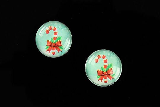 "Cabochon sticla 16mm ""Christmas"" cod 1007"