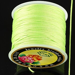Snur Shamballa grosime 1mm, rola de 35m - verde lime