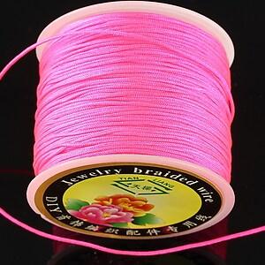 Snur Shamballa grosime 1mm, rola de 35m - roz neon