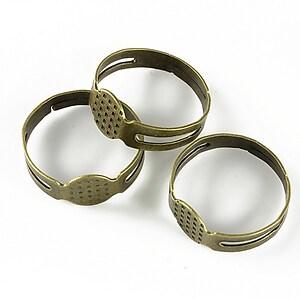 Baza de inel bronz, reglabila, platou 8mm