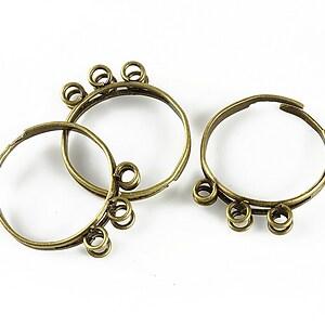 Baza de inel bronz, reglabila, cu 6 bucle