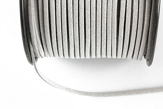 Snur suede (imitatie piele intoarsa) 3x1mm (1m) - gri deschis