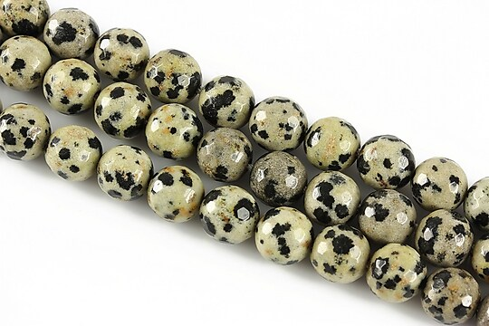 Jasp dalmatian sfere fatetate 8mm