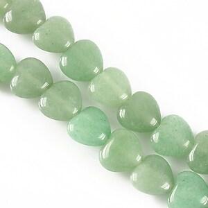 Aventurin verde inima 10mm