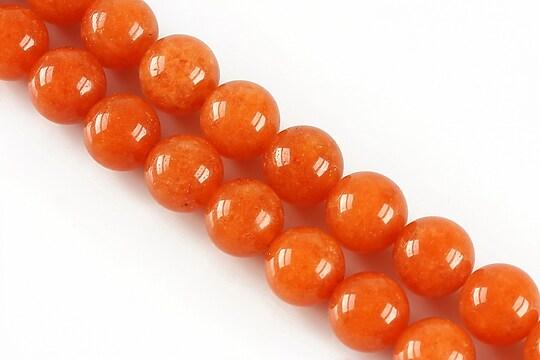 Jad sfere 10mm - portocaliu