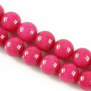 Jad sfere 10mm - roz bonbon