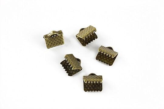 Capat snur bronz, latime 8mm (8x8x6mm) (10buc.)