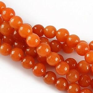 Jad sfere 6mm - portocaliu