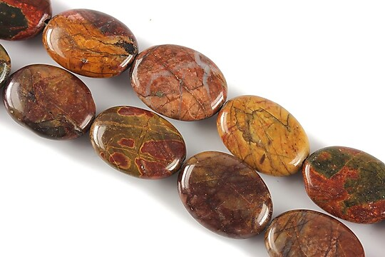 Picasso jasper oval 18x13mm