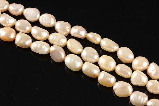 Sirag perle de cultura aprox. 8x6mm, crem